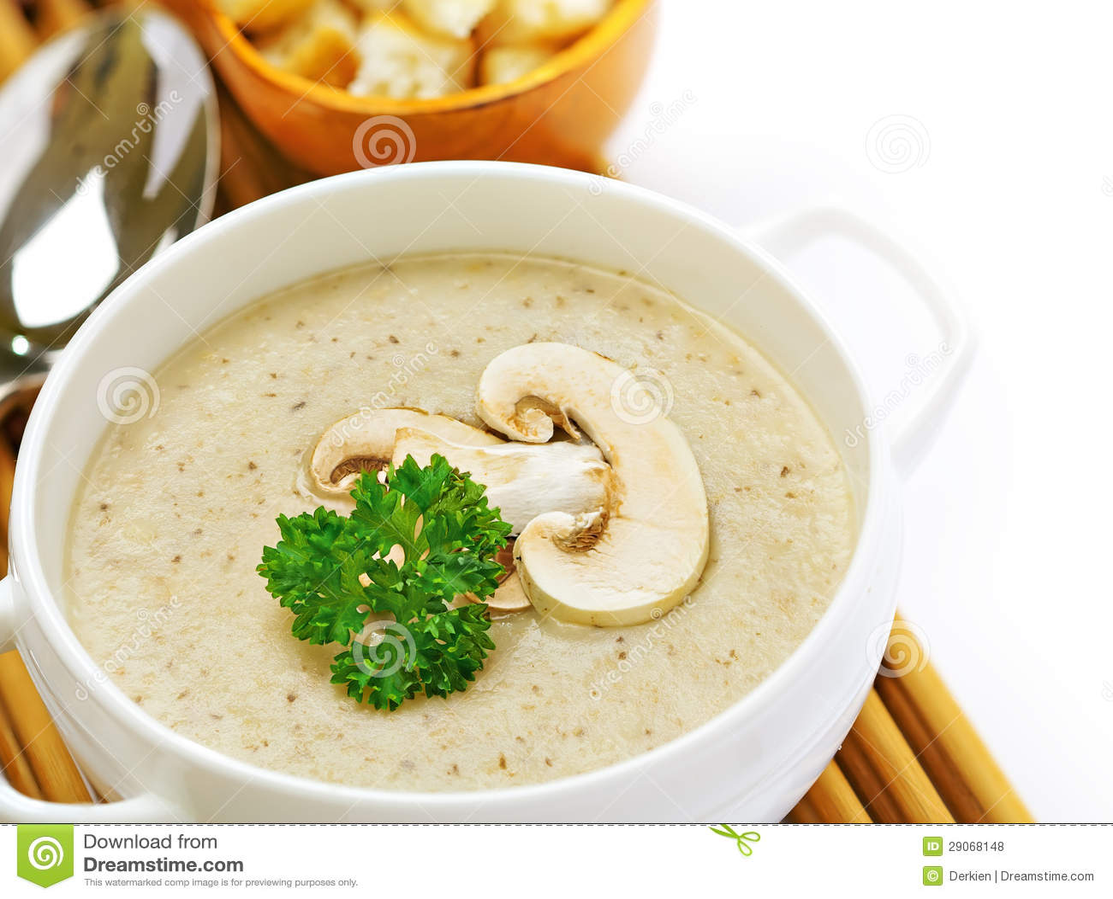 Mushroom Cream Soup Royalty Free Stock Photos - Image: 29068148