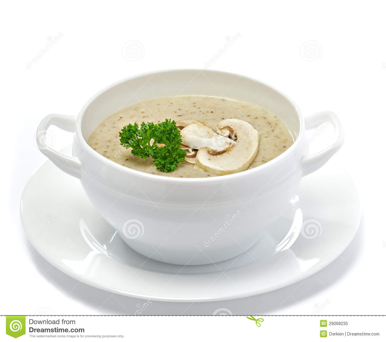 Mushroom Cream Soup Royalty Free Stock Photo - Image: 29068235