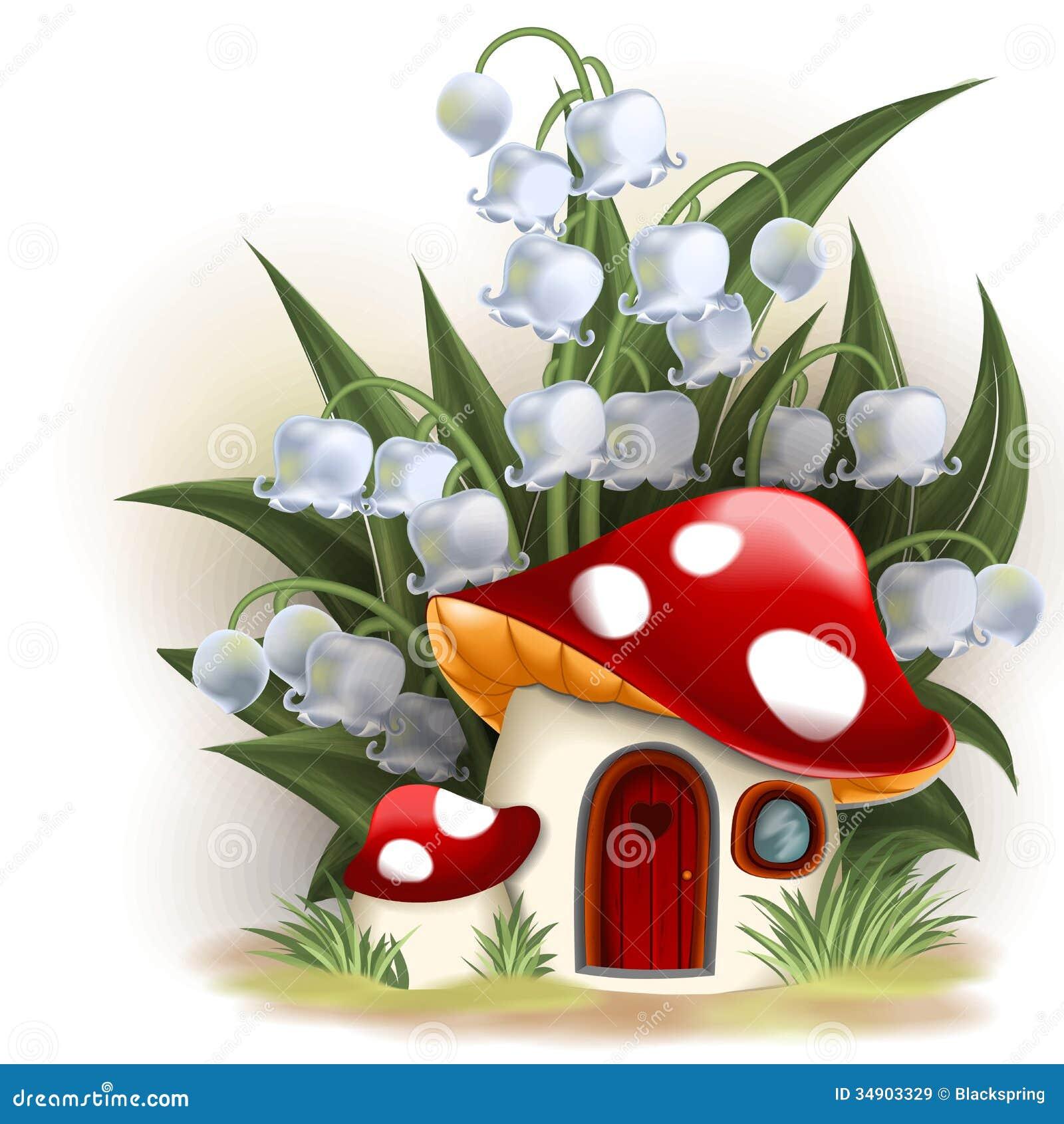 Mushroom Fantasy House Royalty Free Stock Images Image