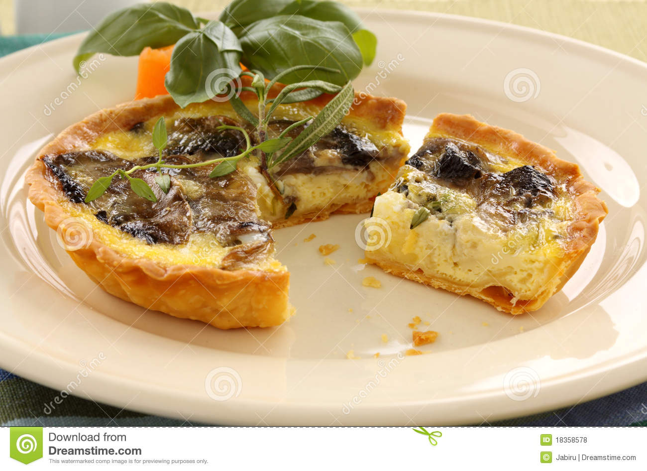 Mushroom Quiche Royalty Free Stock Photos - Image: 18358578