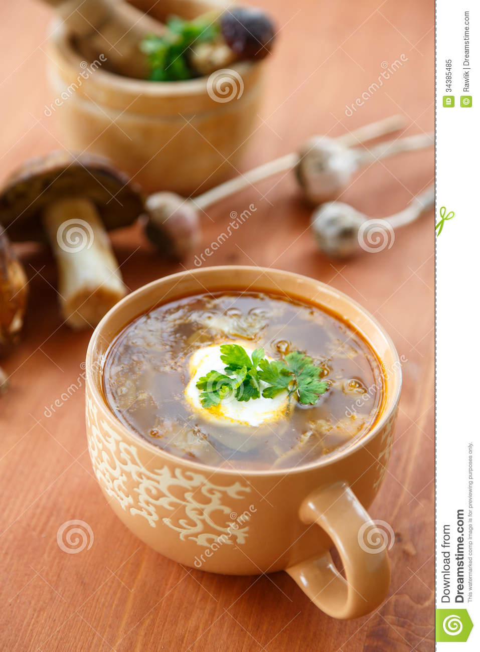 how to prepare mushroom soup