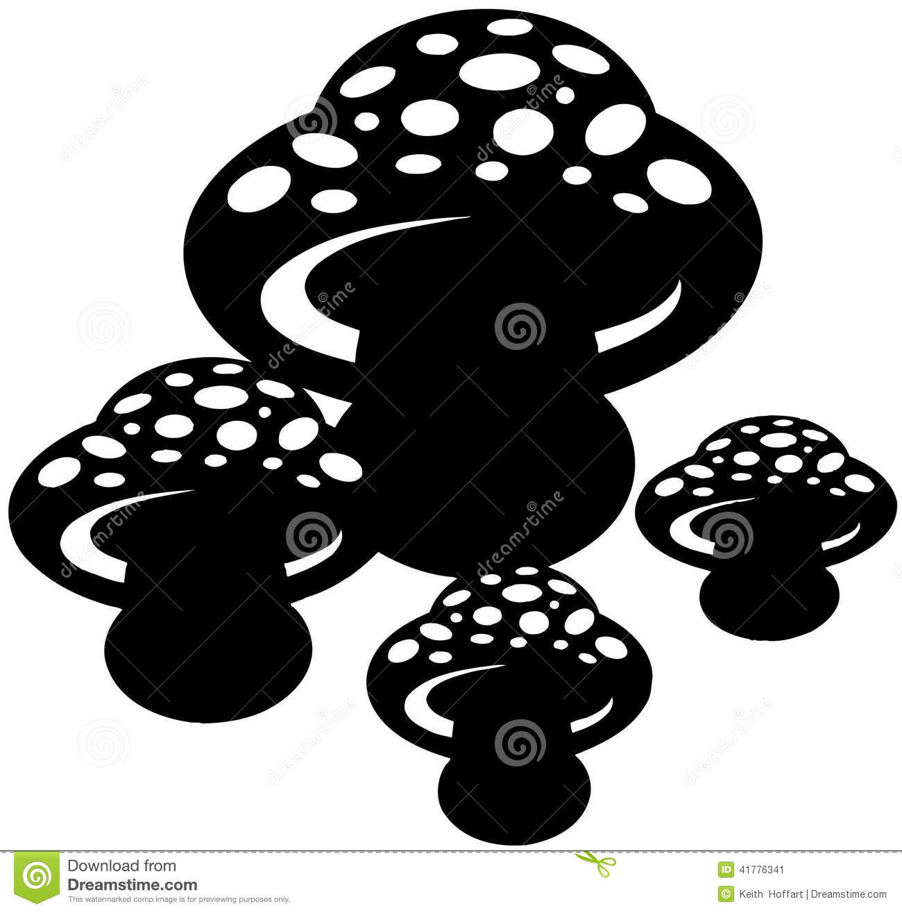 mushrooms cartoon vector clipart stock vector image