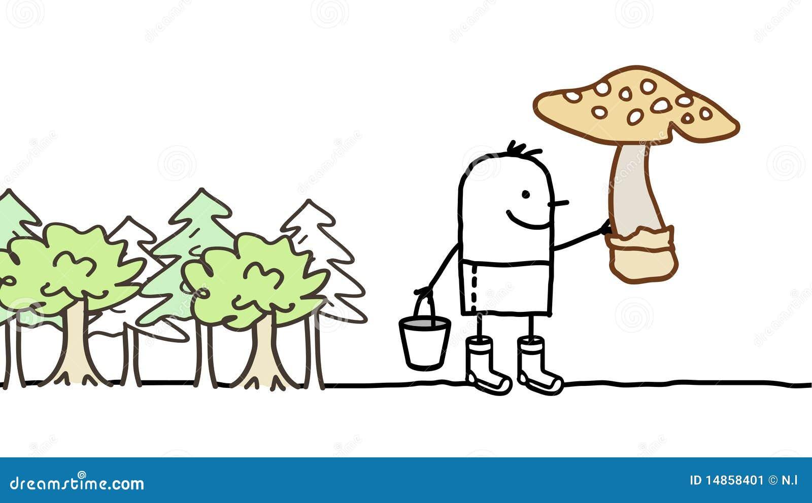 Mushrooms picking