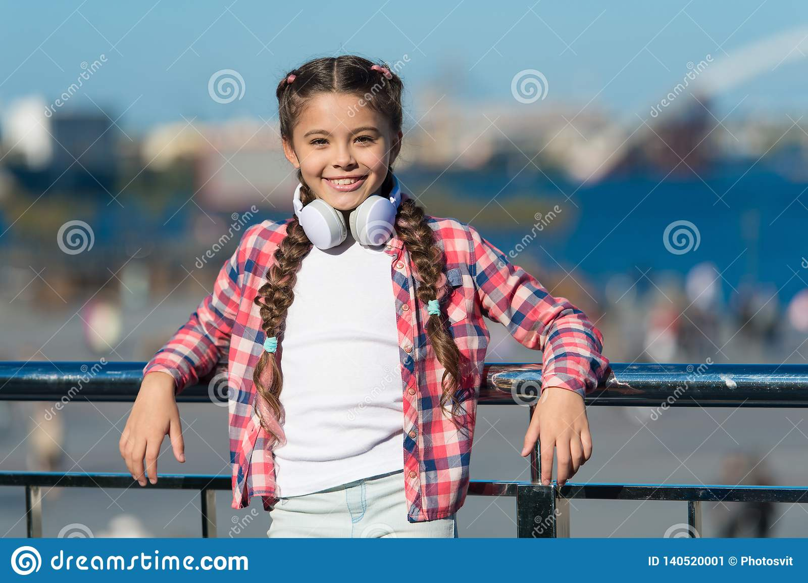 Music account playlist. Customize your music. Discovering new music styles is great way into culture. Kid little girl