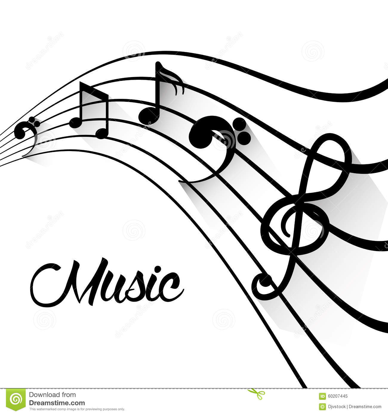 music art graphic design stock vector image 60207445