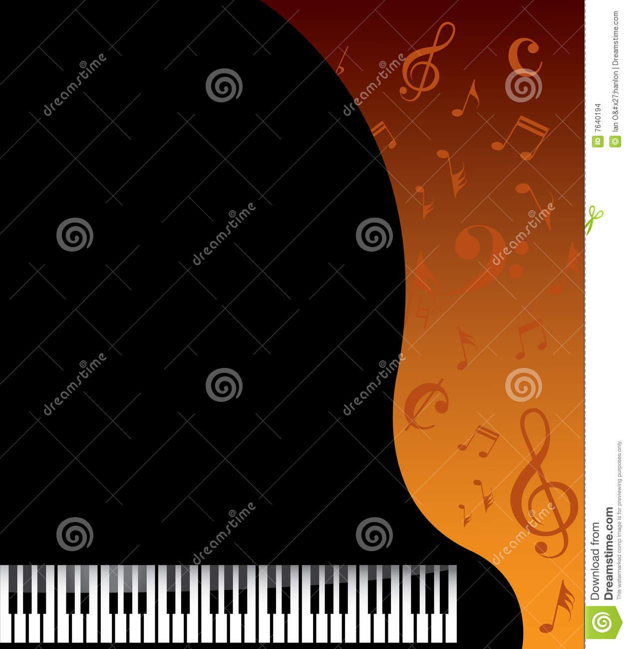 Piano Background Music: Music Background Stock Images