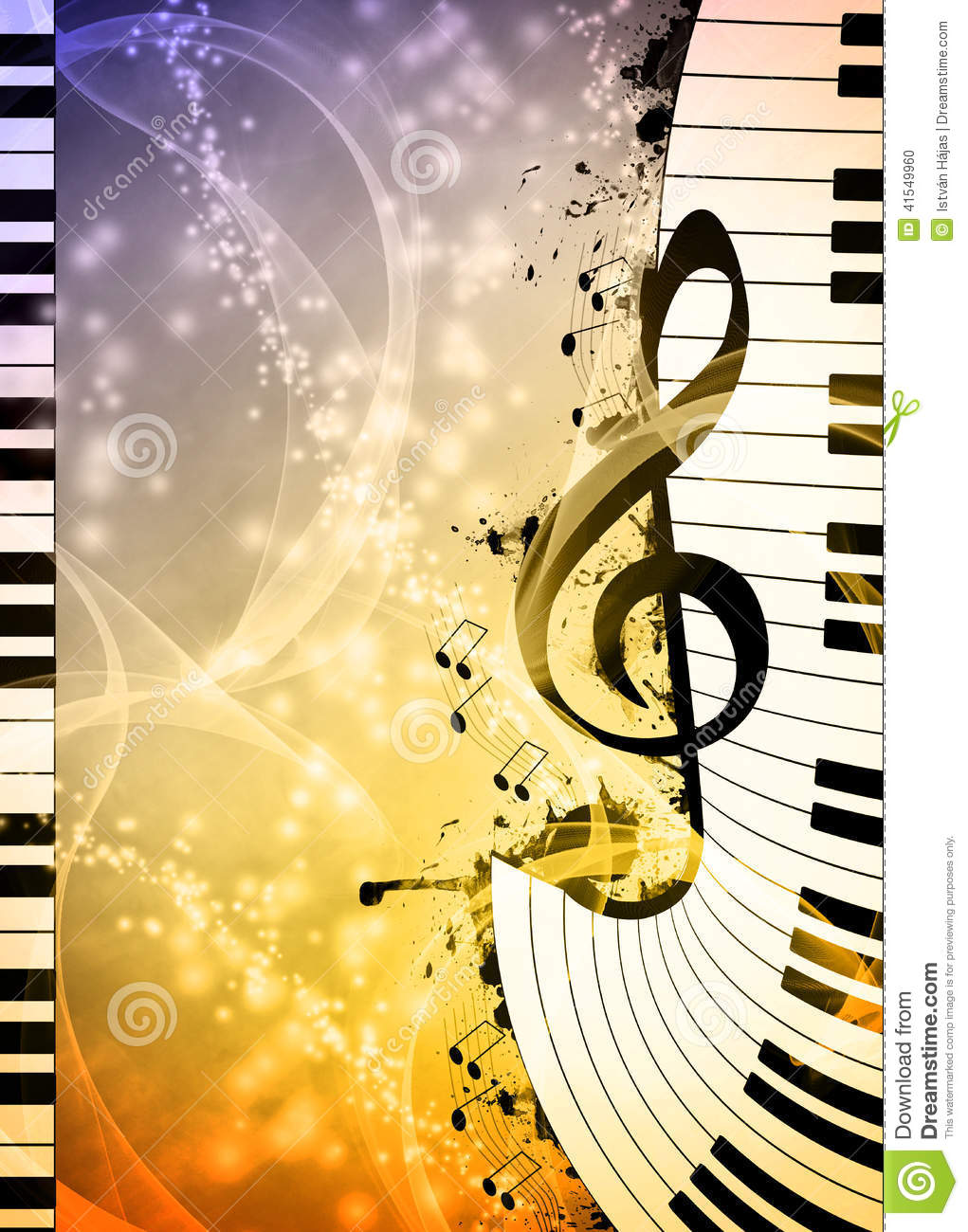 Music Background Stock Illustration Illustration Of Blues