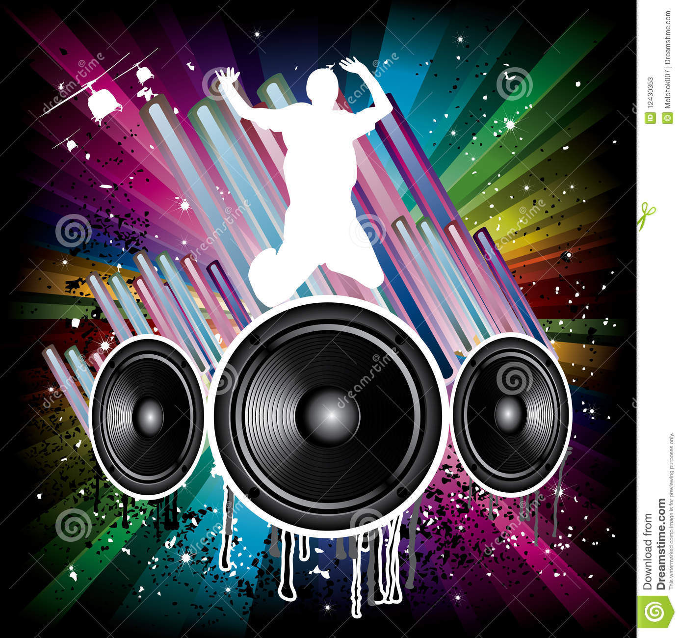 Music Background For Disco Flyers Stock Vector