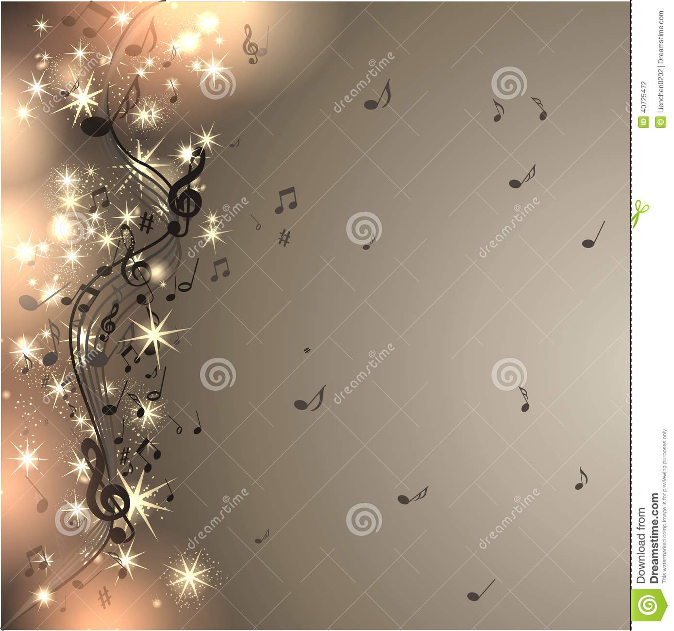 Music: Music Background With Notes Stock Photo