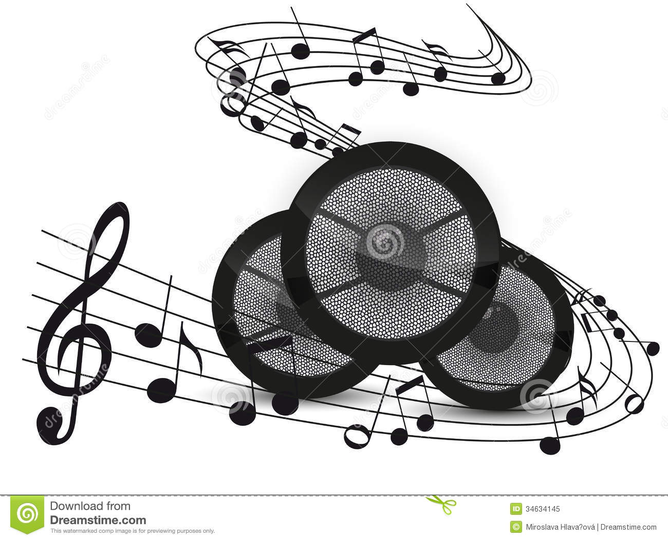 Music Background Stock Vector Image Of Note Beautiful