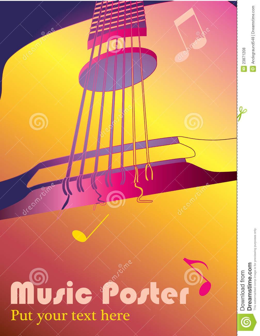 Music Background Or Poster Royalty Free Stock Photos - Image: 23871208