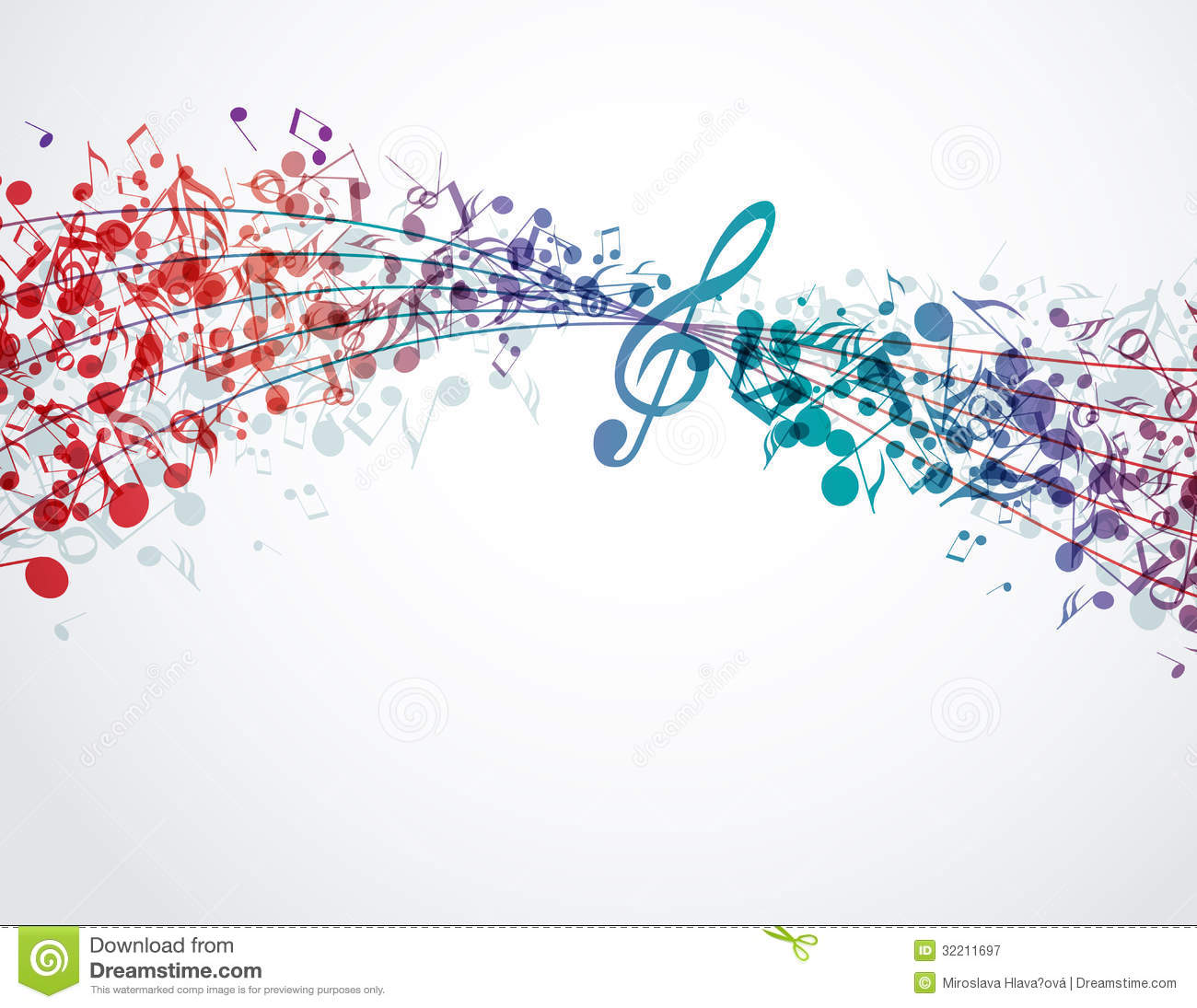 Music background stock vector Image of image banner 32211697