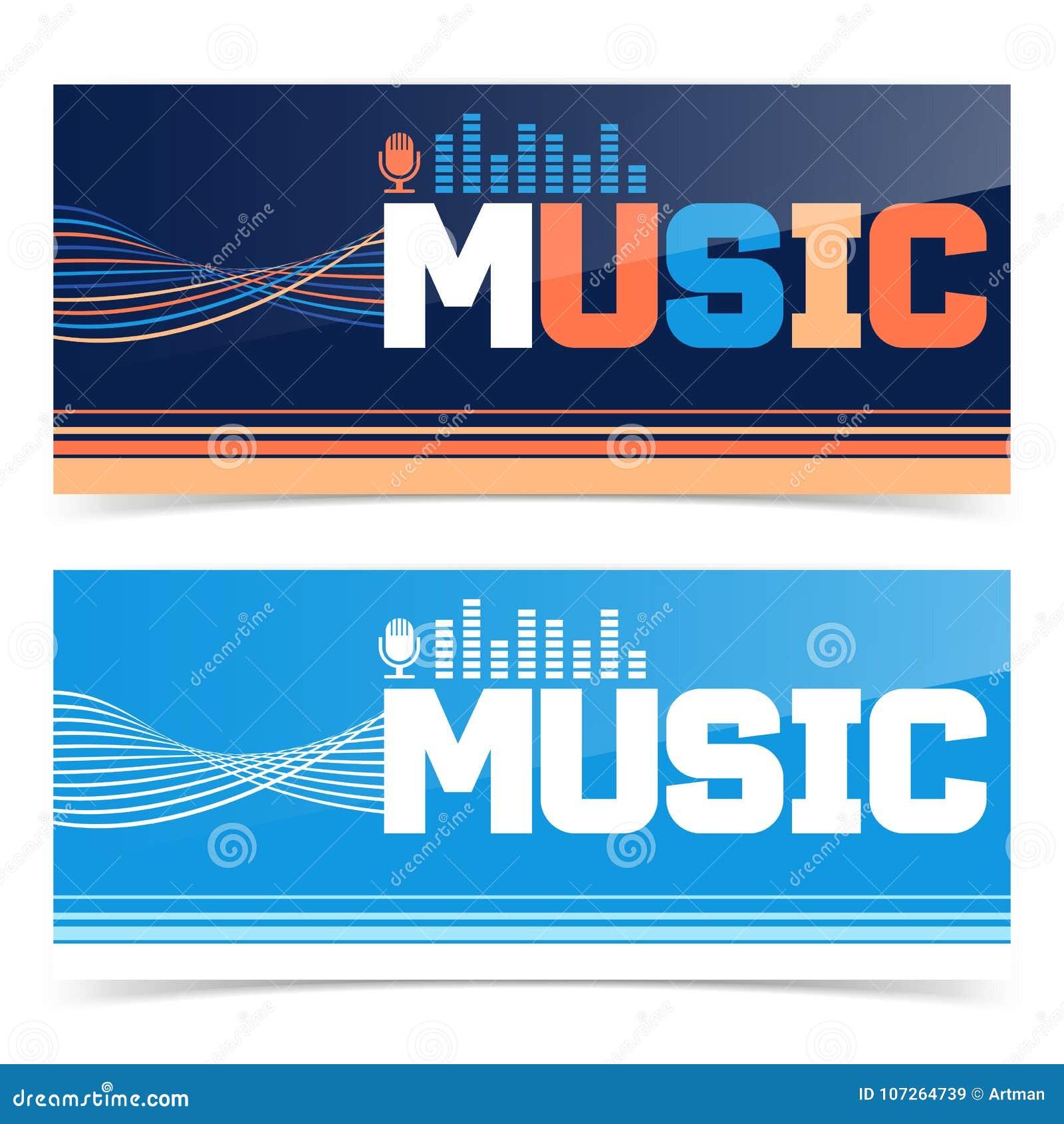 music banner or flyer design stock vector illustration of flier