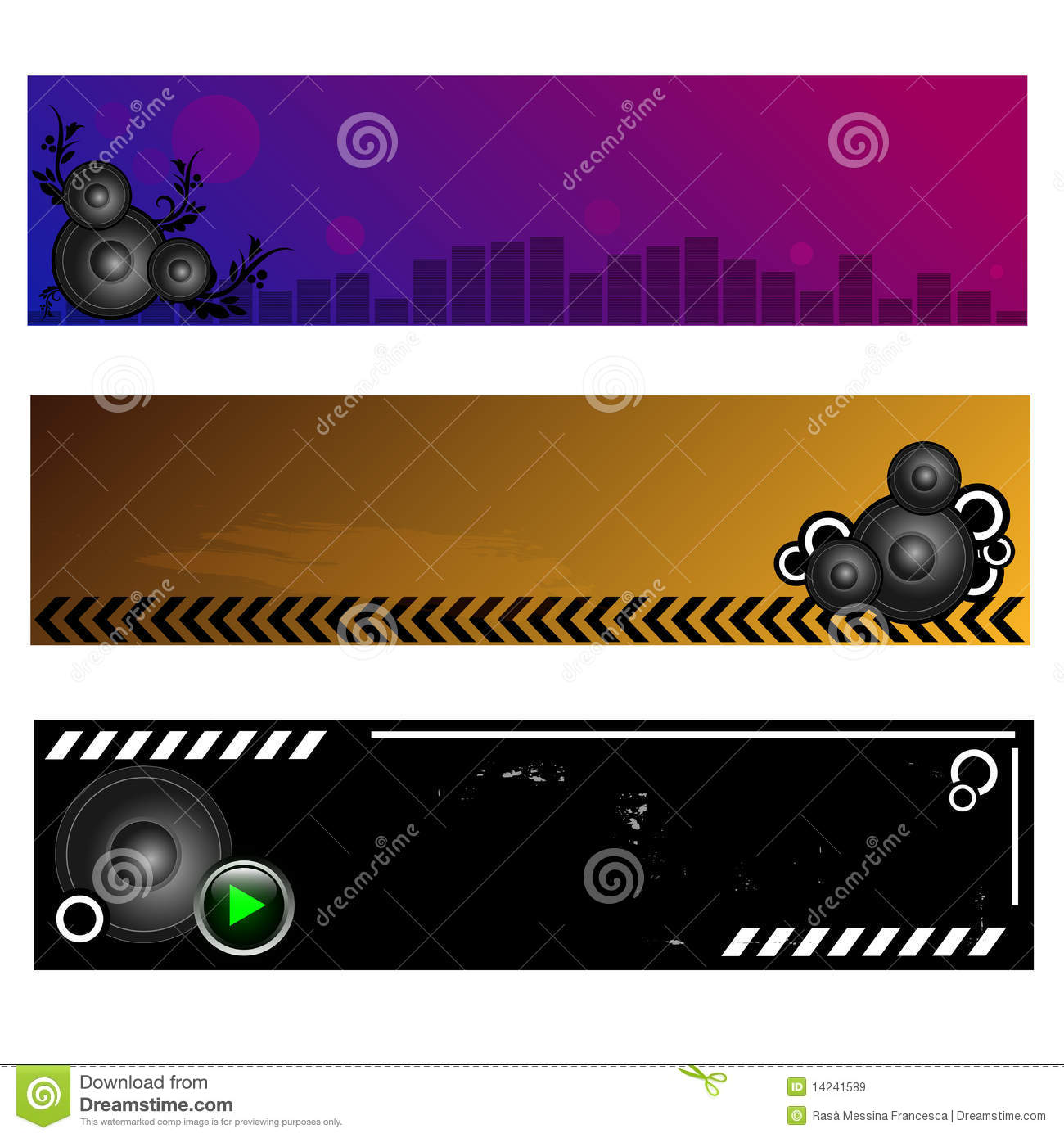 Music: Music Banners Royalty Free Stock Images