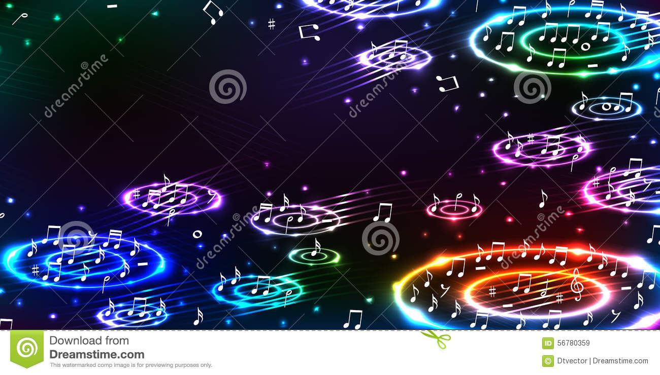 Music Bass Sound Horizontal Banner RGB Stock Vector