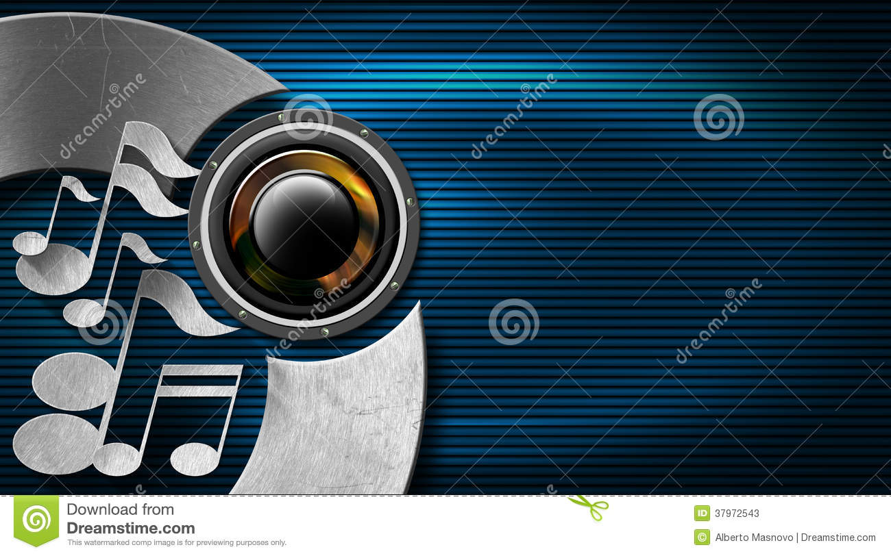 Music blue and metal business card stock photos image for Music business card background
