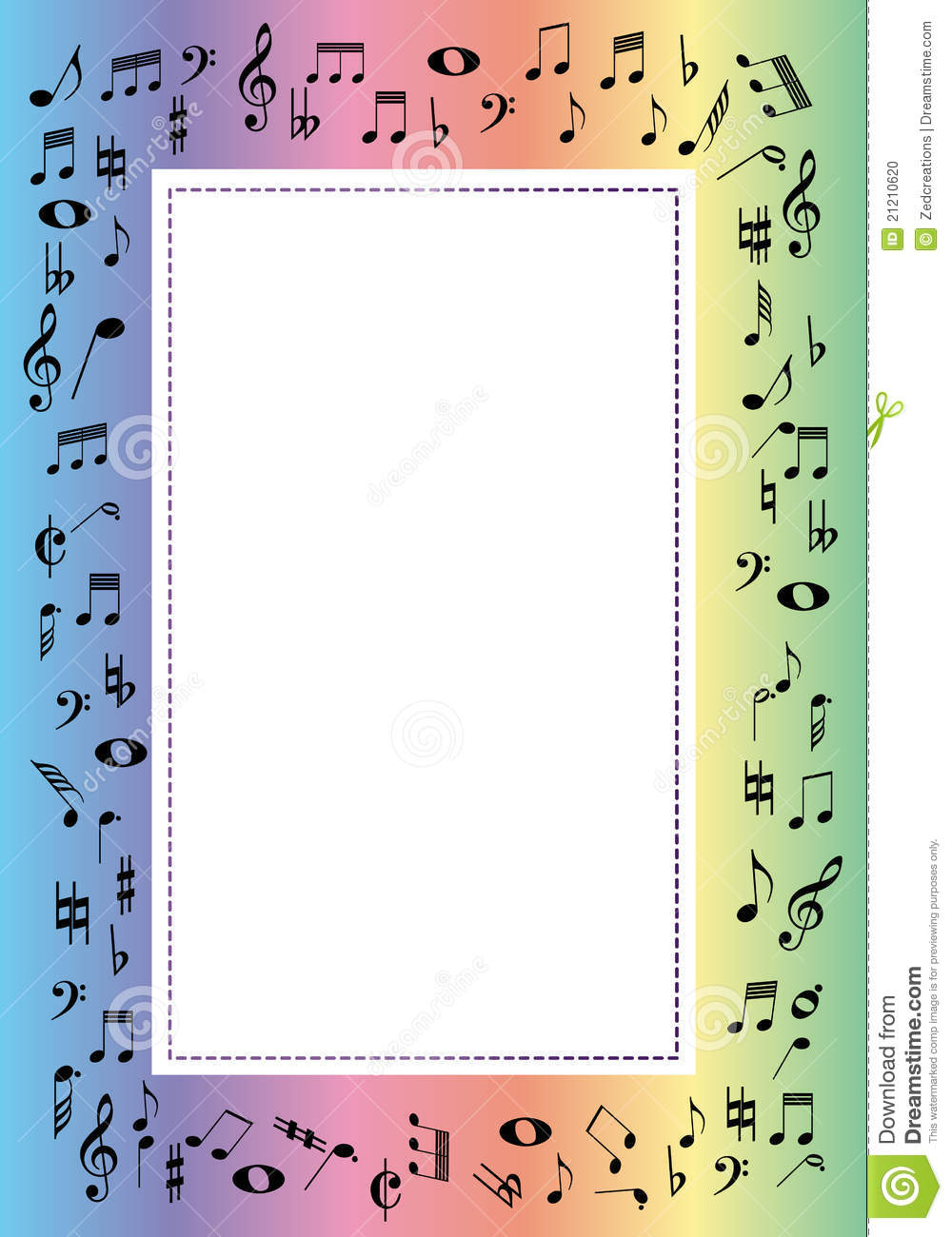 Music border stock vector. Illustration of notes, advertise - 21210620