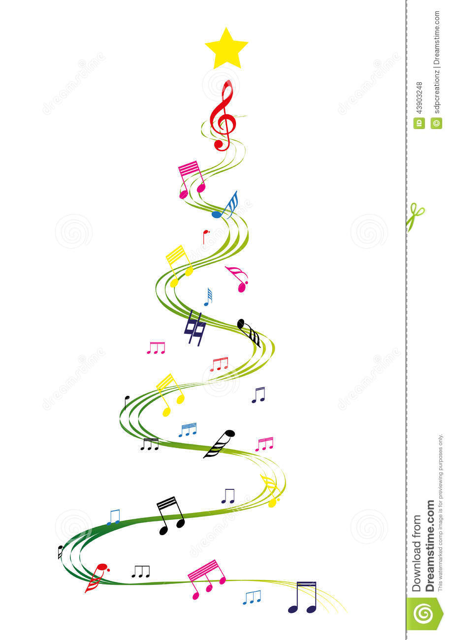 Christmas Music Notes.Music Christmas Tree Stock Vector Illustration Of Tune