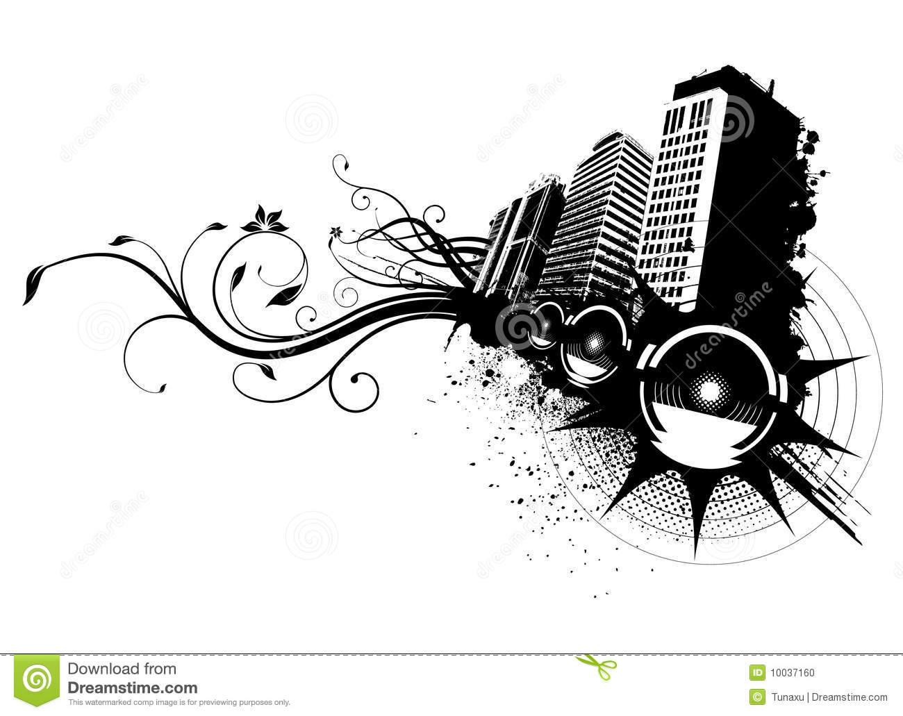 Music city vector stock photo image 10037160 for Immagini vector
