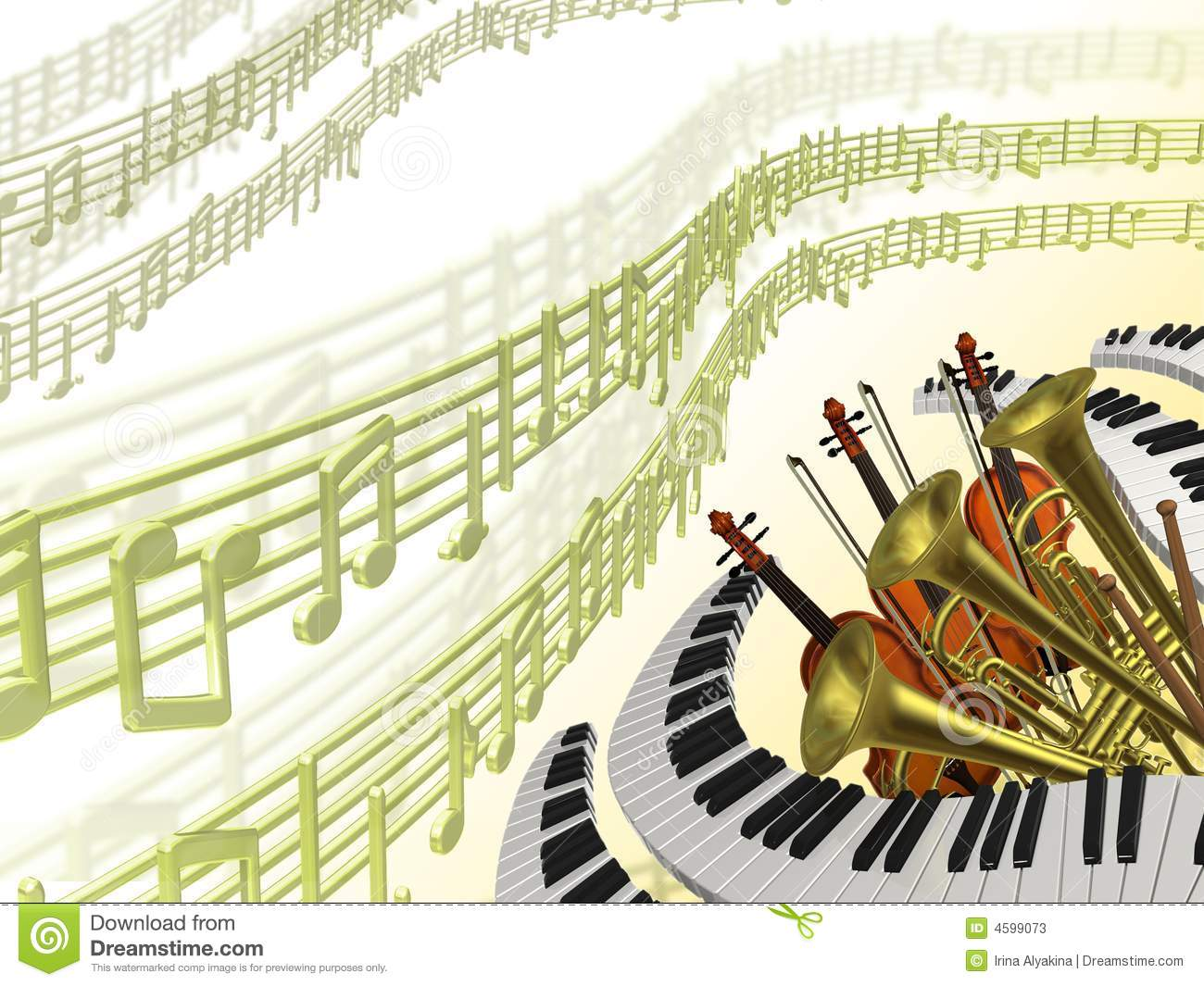 Music Classical Background Stock Photos - Image: 4599073