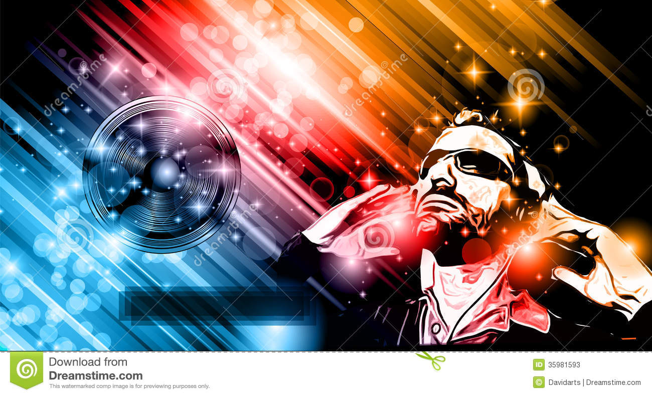 Music club background for disco dance flyers stock vector for 1234 get on the dance floor songs download