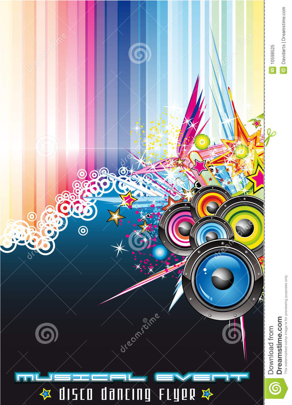music colorful background for flyers stock vector
