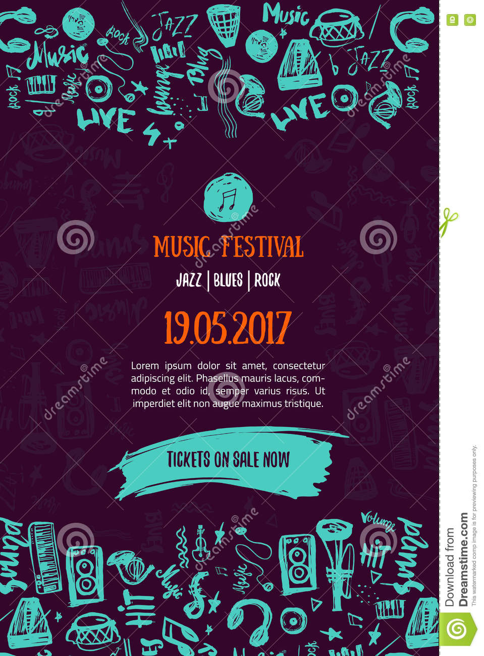 Poster design event - Music Concert Background Festival Modern Flyer Vector Illustration Music Event Poster Template Design