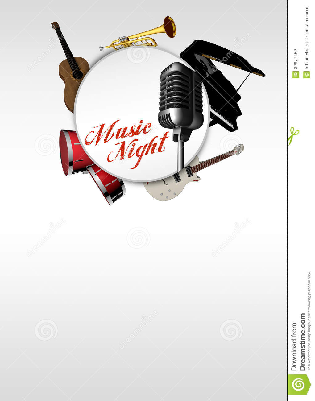Music Concert Invitation Background Stock Photography - Image ...