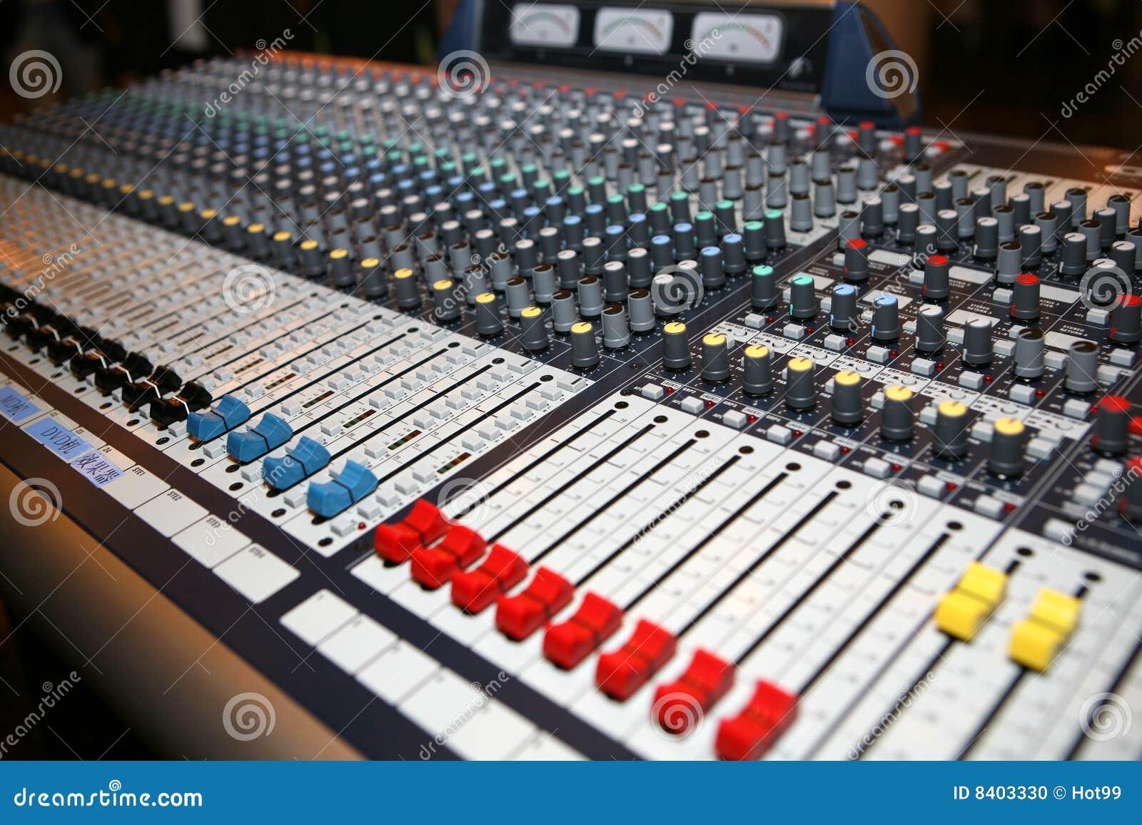 Music Control Panel Stock Photo Image 8403330