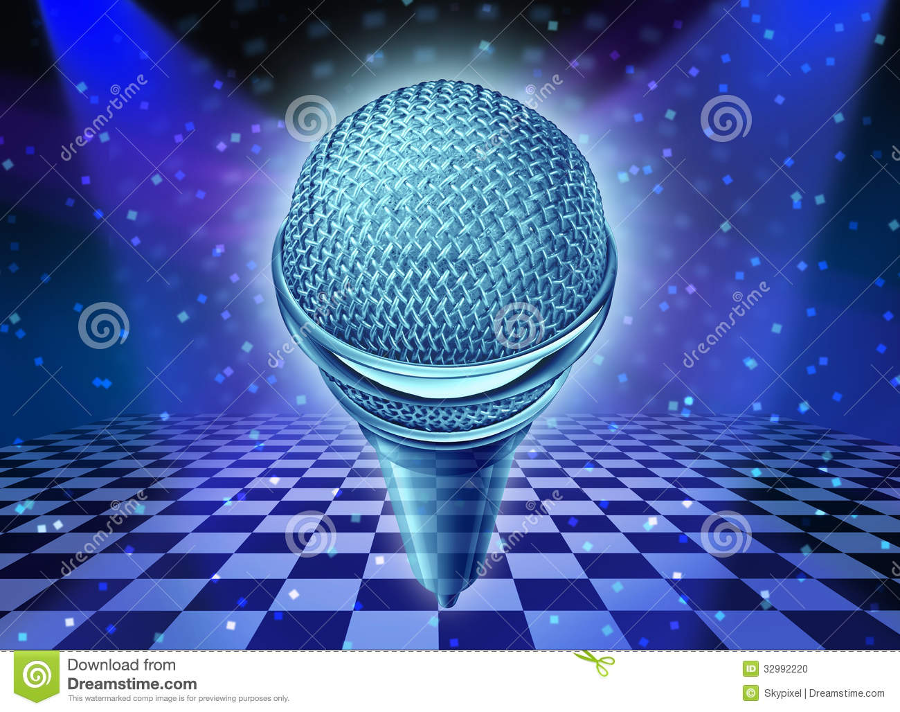 Stock Photo Music Dance Entertainment Concept As Microphone Over Dancing Disco Club Floor As Symbol Fun Party Time Image32992220 on design floor plan symbol for audio