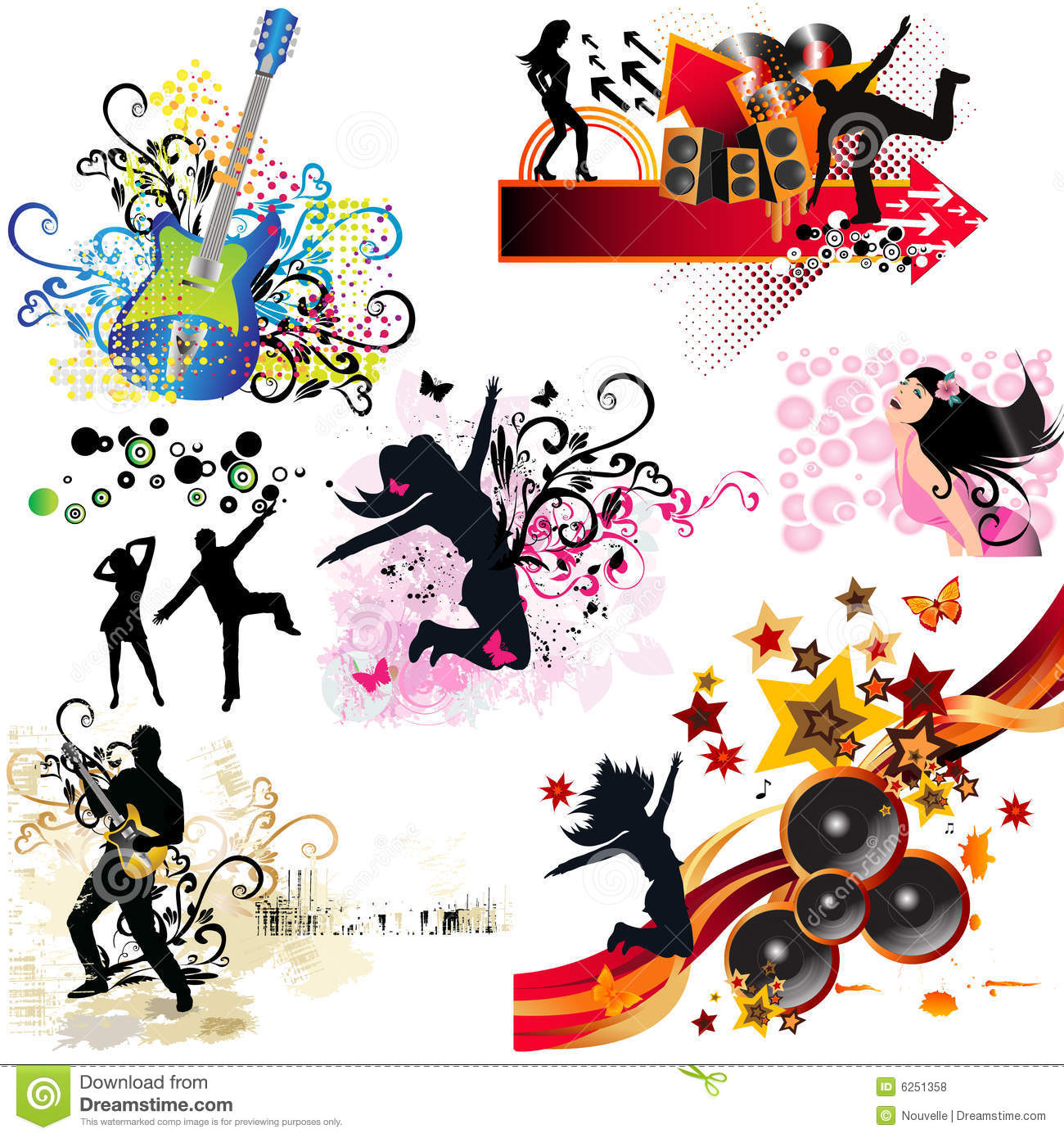 music elements dance illustration royalty preview dreamstime