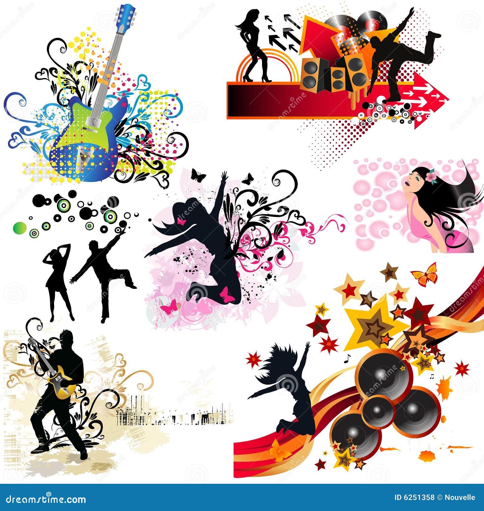 Music Design Elements Royalty Free Stock Photos Image
