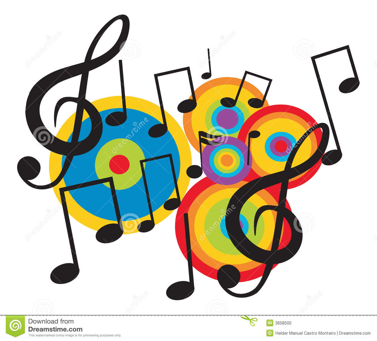 music theme clipart musica musical vector festival dreamstime concert note imagenes notes danza songs arte band para el singers fun