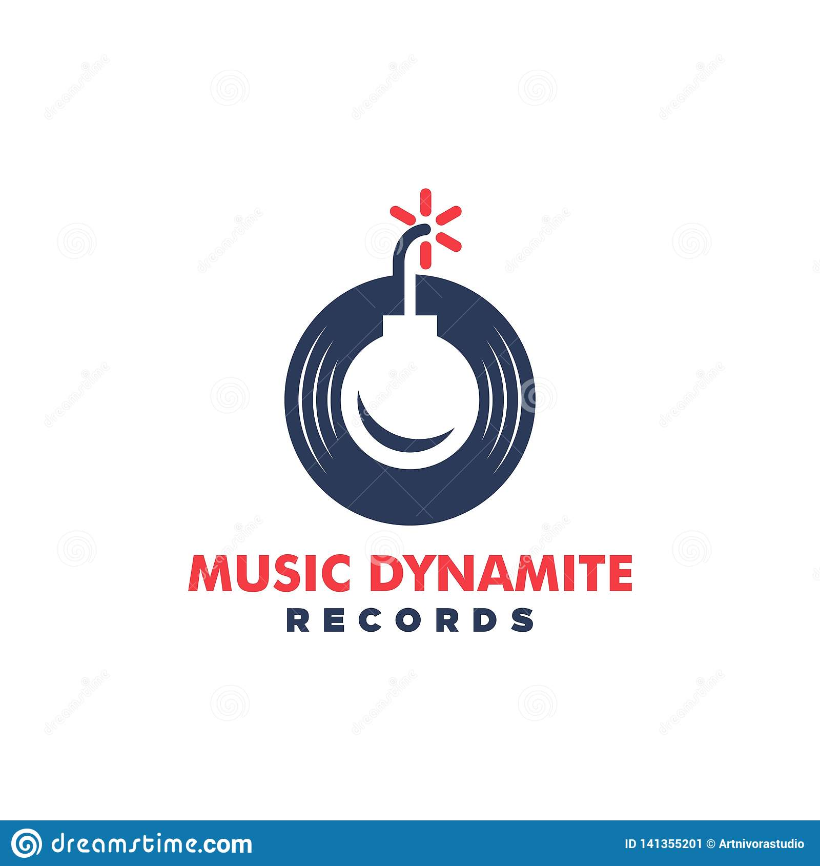 Music Dynamite Concept illustration vector Design template