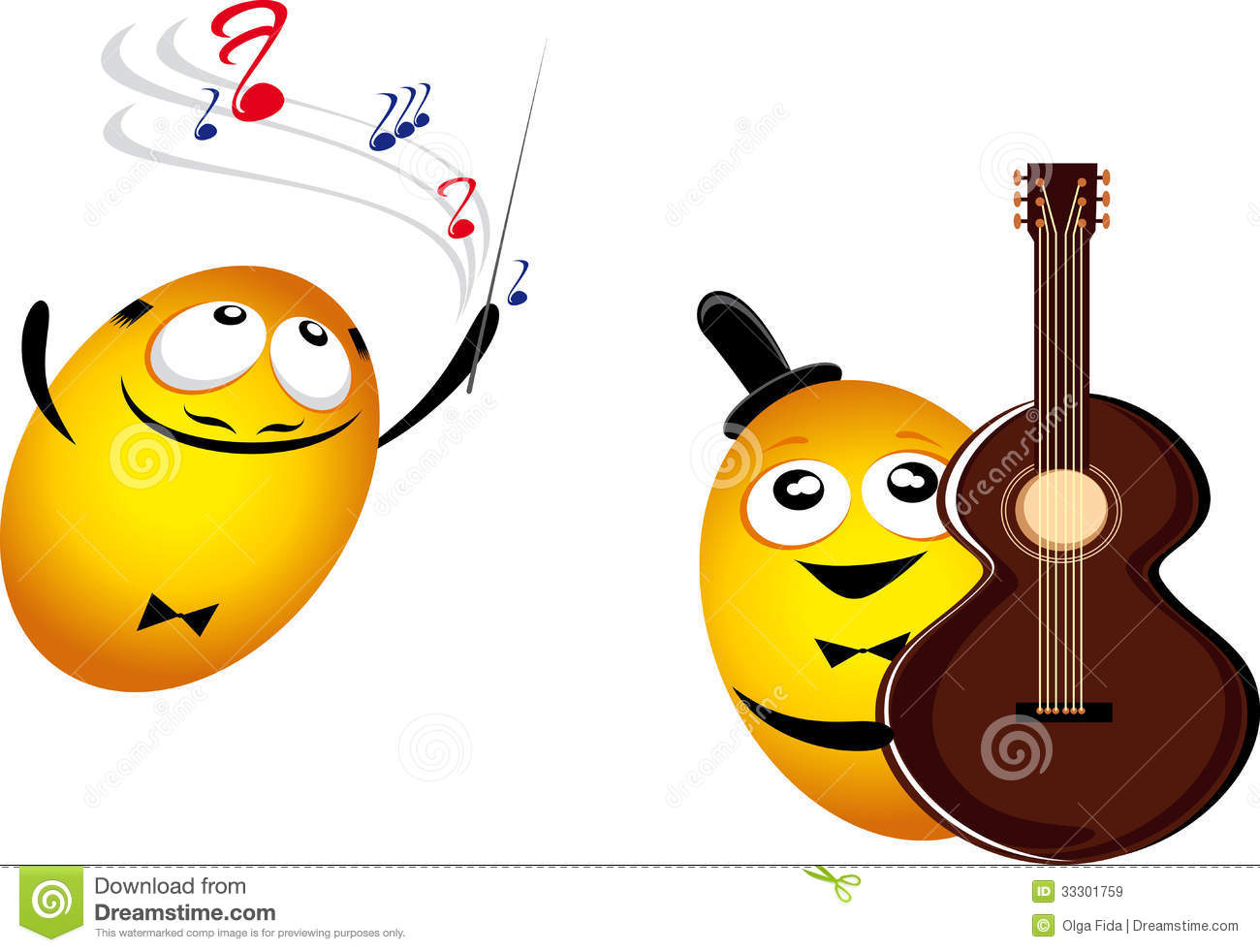 Music Emoticons Royalty Free Stock Images - Image: 33301759: dreamstime.com/royalty-free-stock-images-music-emoticons-two...