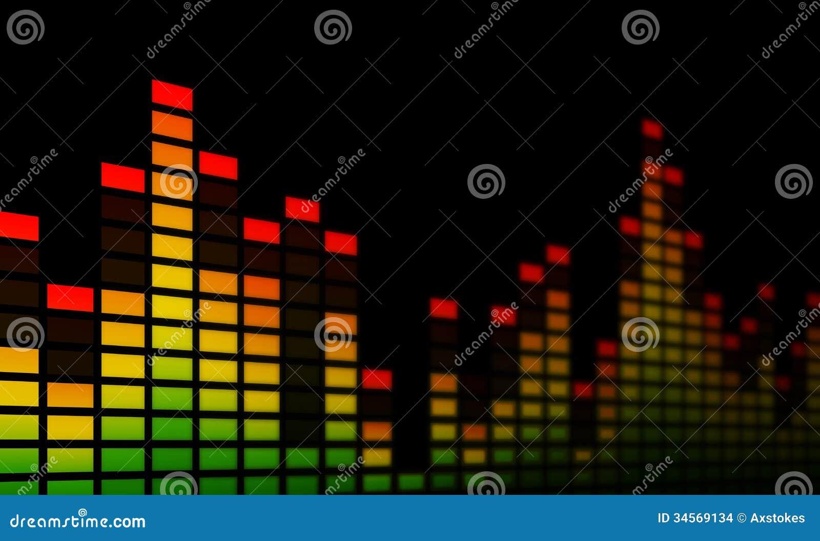 Music Bars Wallpaper: Close-up Stock Illustration