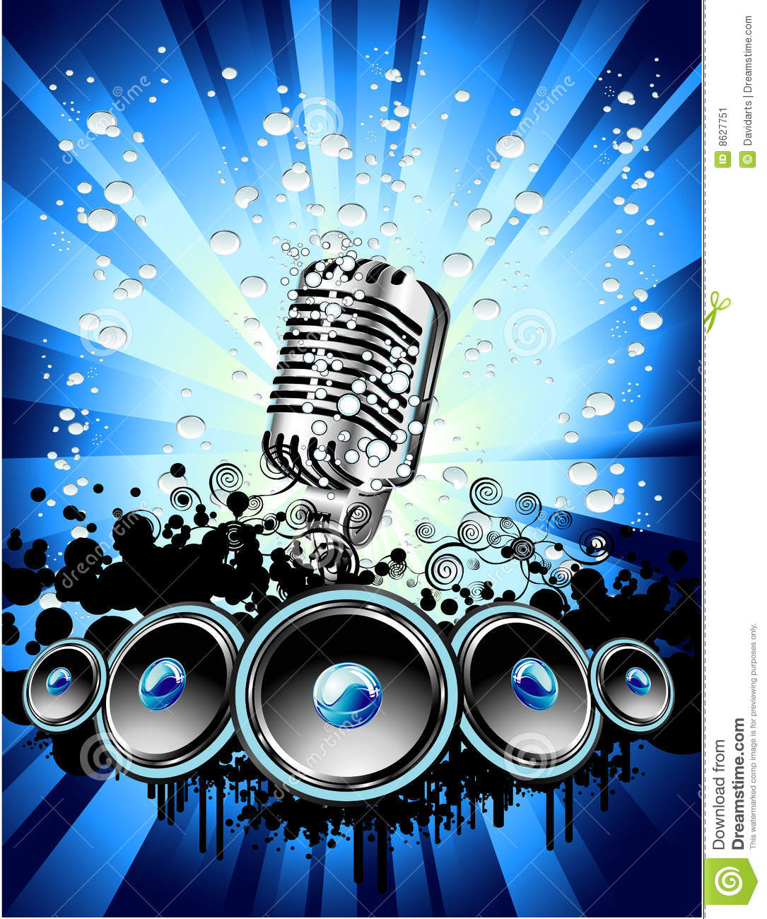 Music Event Background Stock Image Image 8627751
