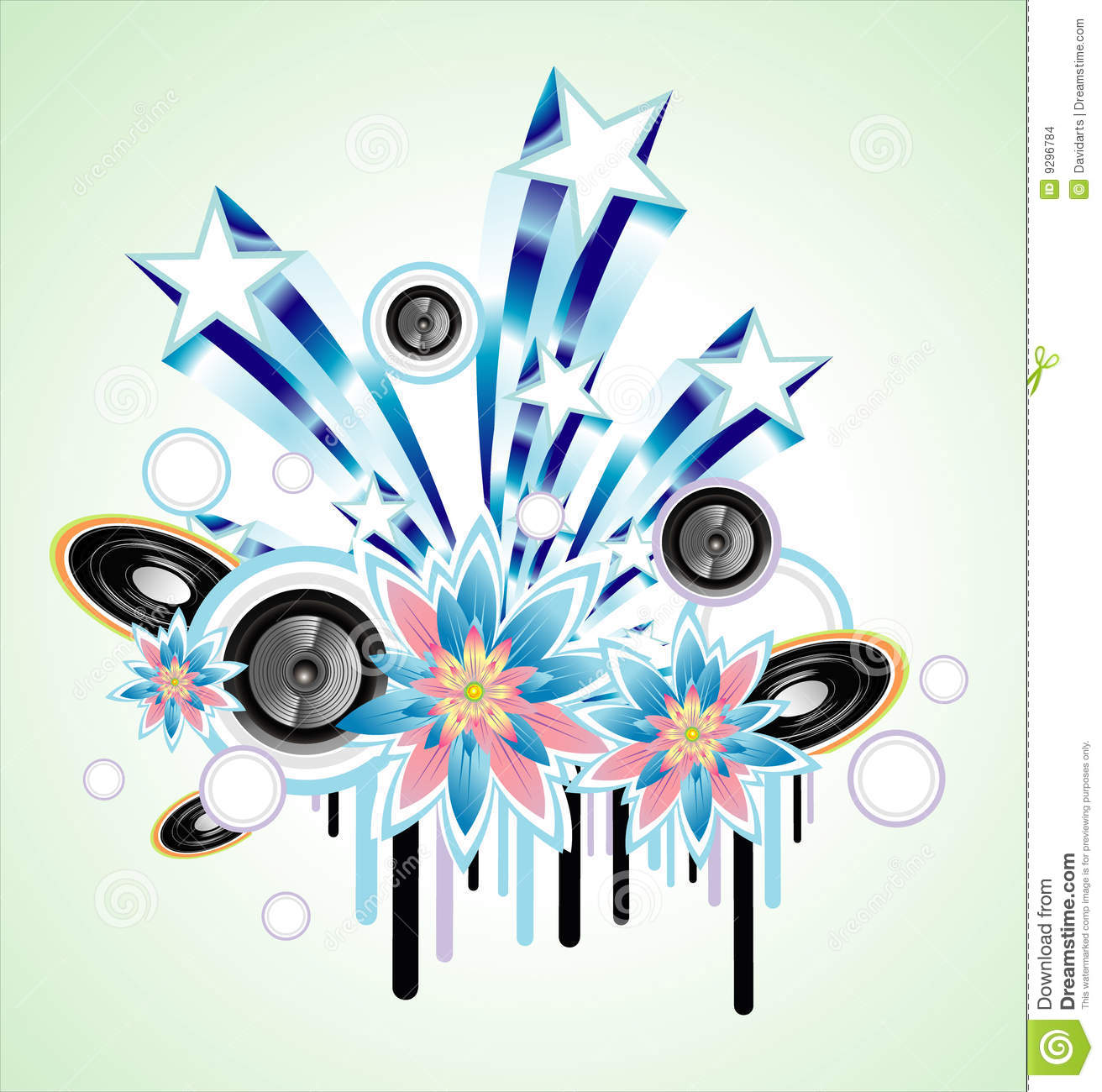 Music Event Background Stock Vector Illustration Of Fantasy 9296784