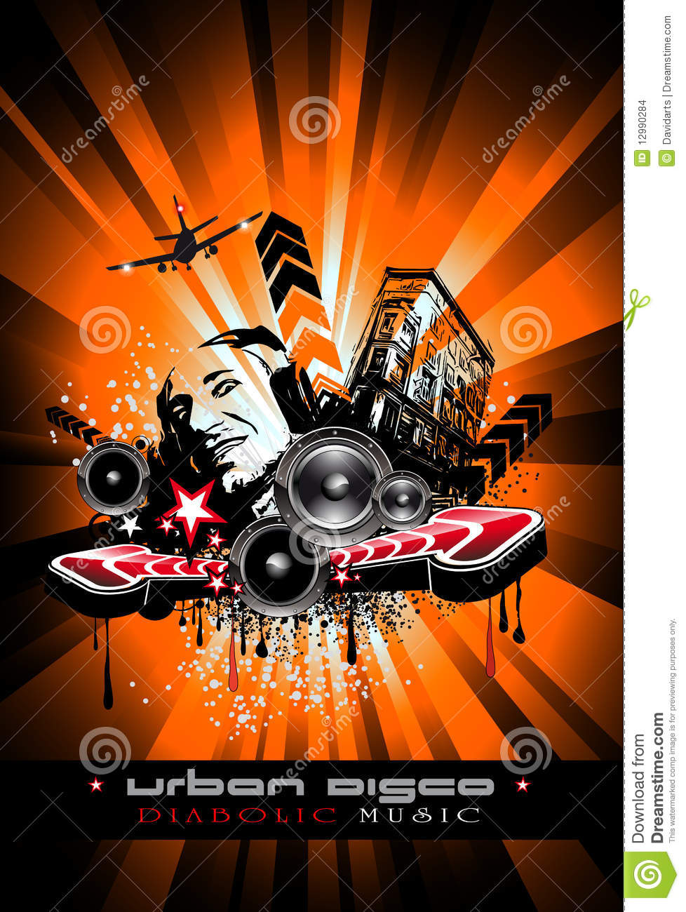 music event background with crazy dj stock images