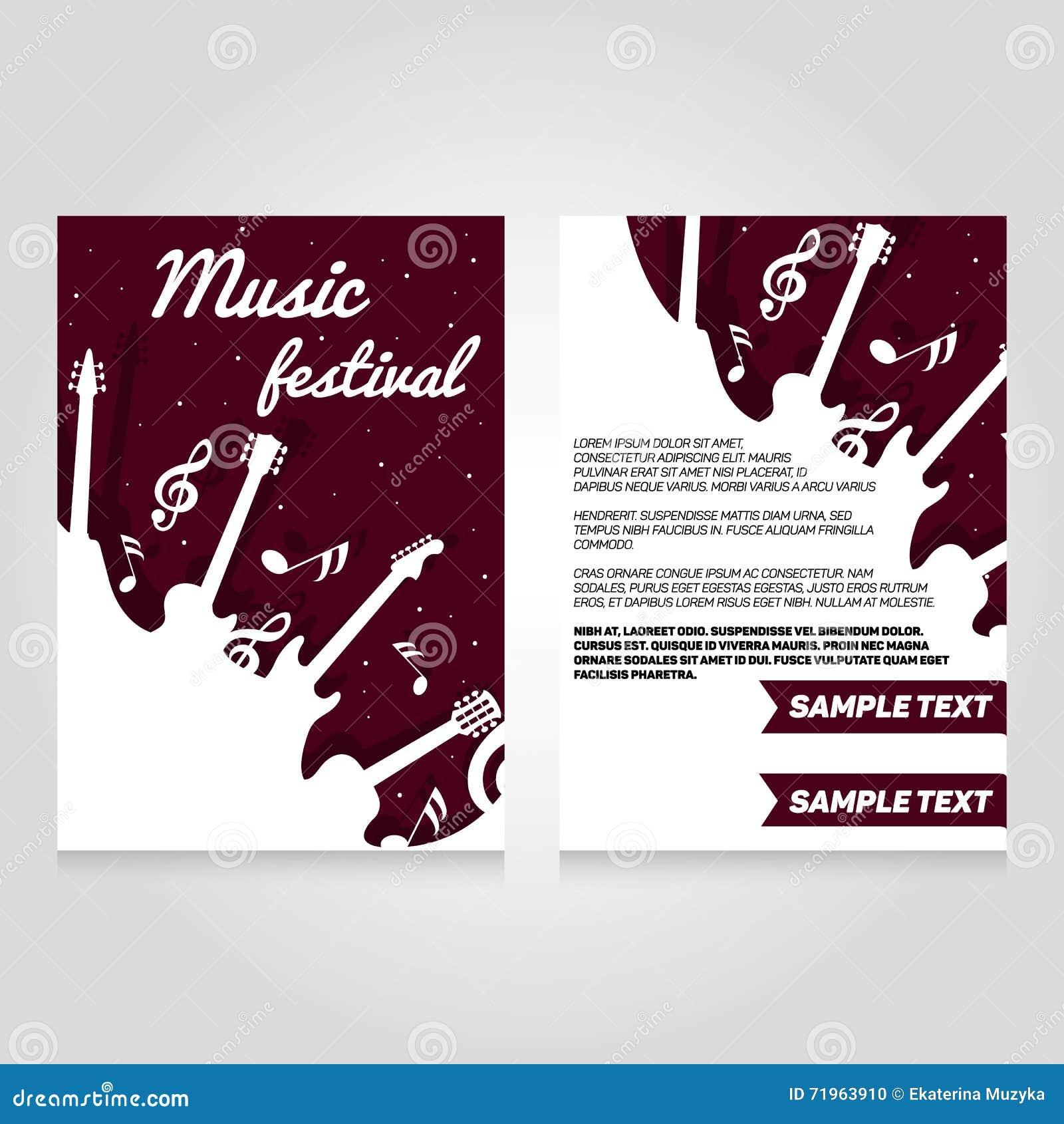 music brochure templates - music festival brochure flier design template stock