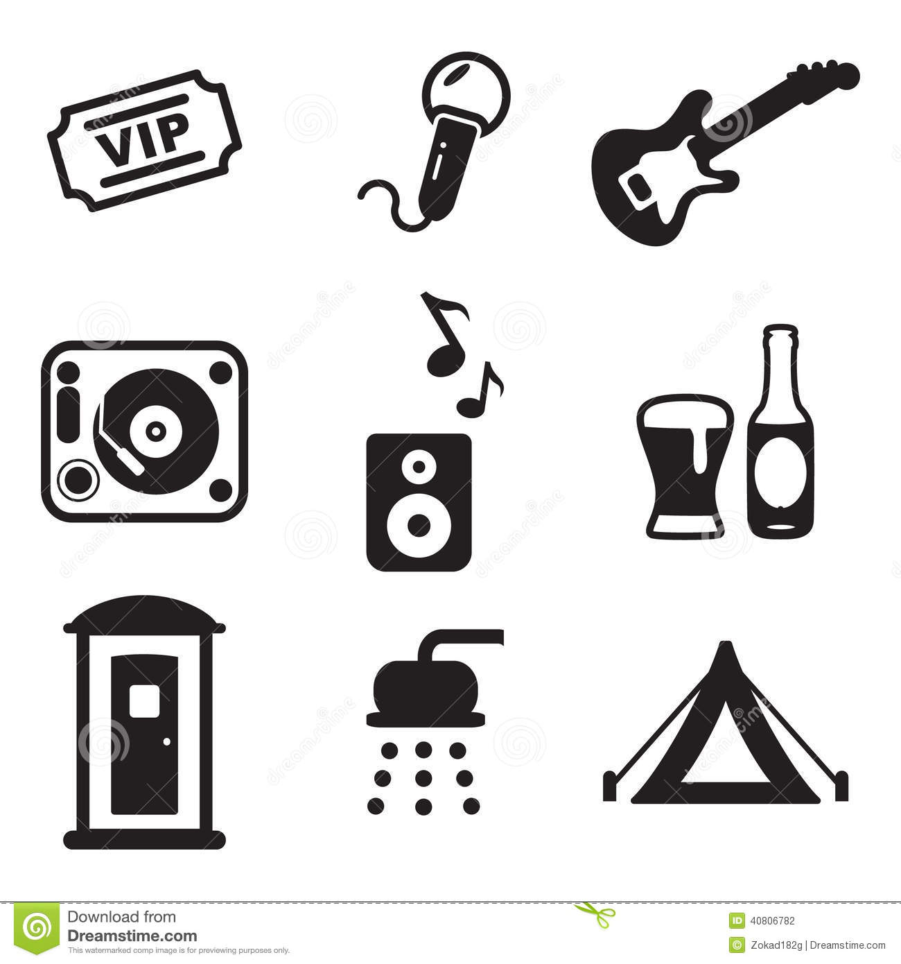 Music Festival Icons Stock Vector - Image: 40806782