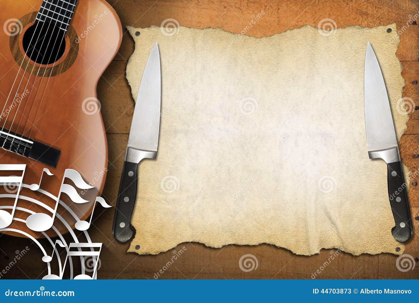 Music And Food Menu Design Stock Illustration Image