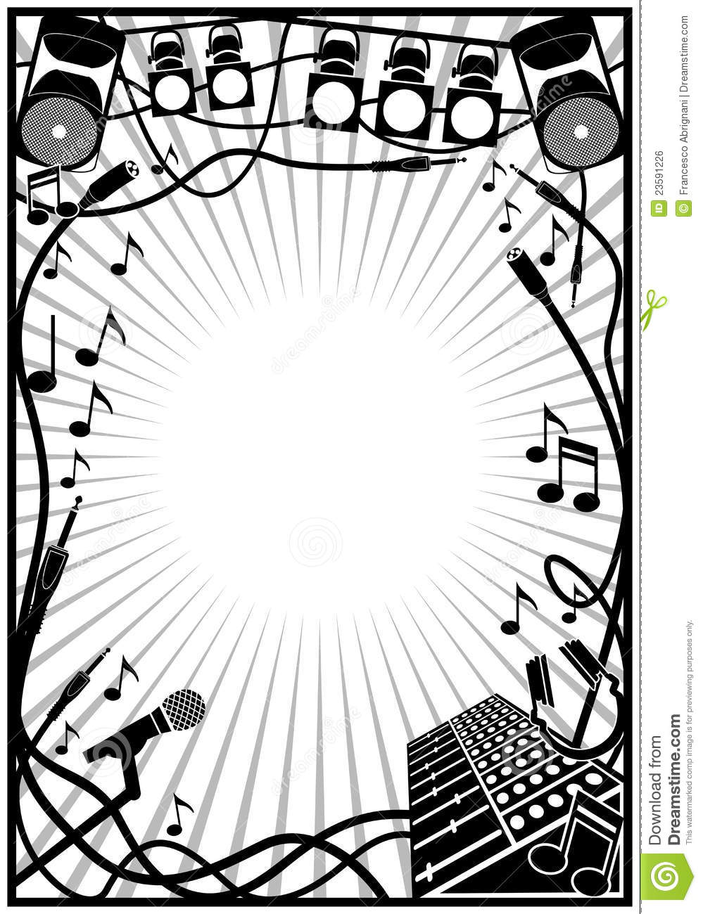 Music frame stock vector. Illustration of abstract, creative - 23591226