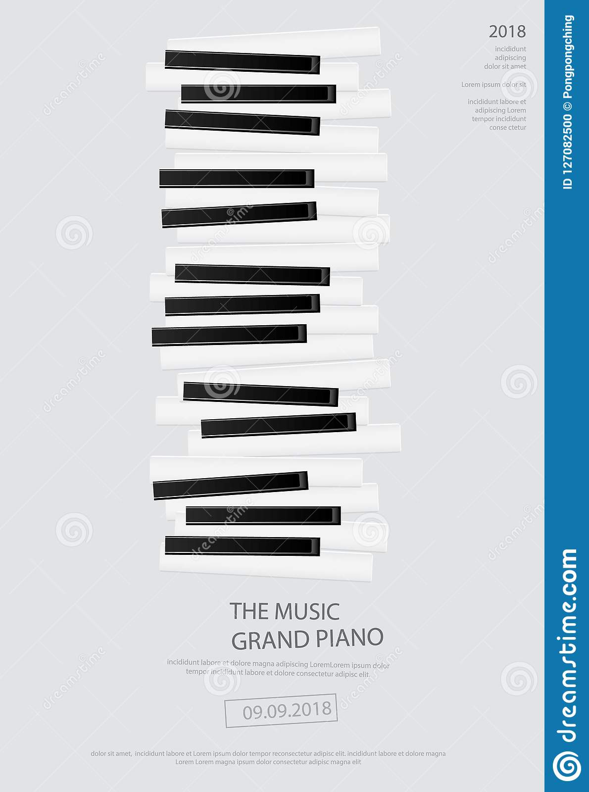 music grand piano poster background template stock vector