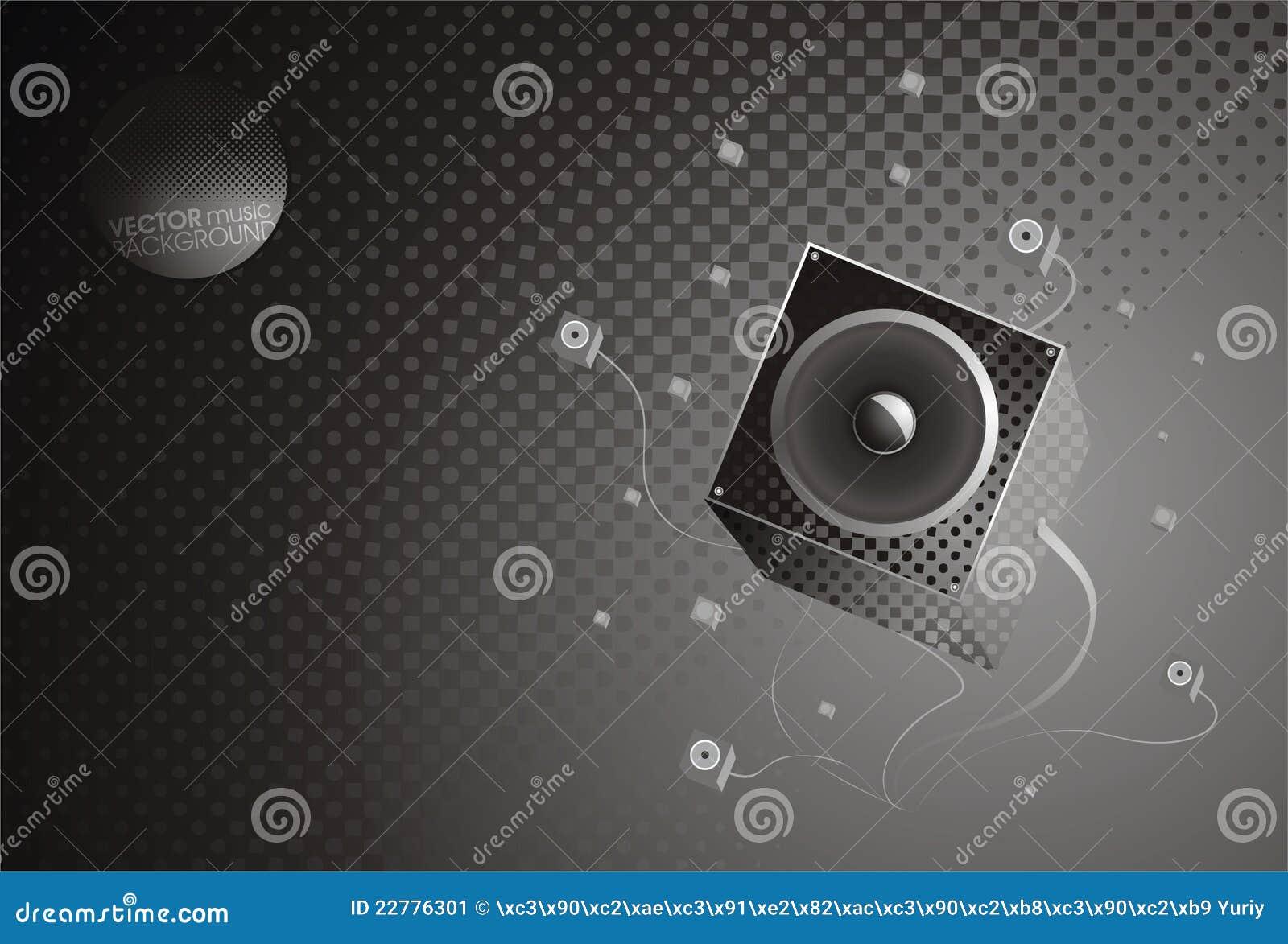 Music gray background