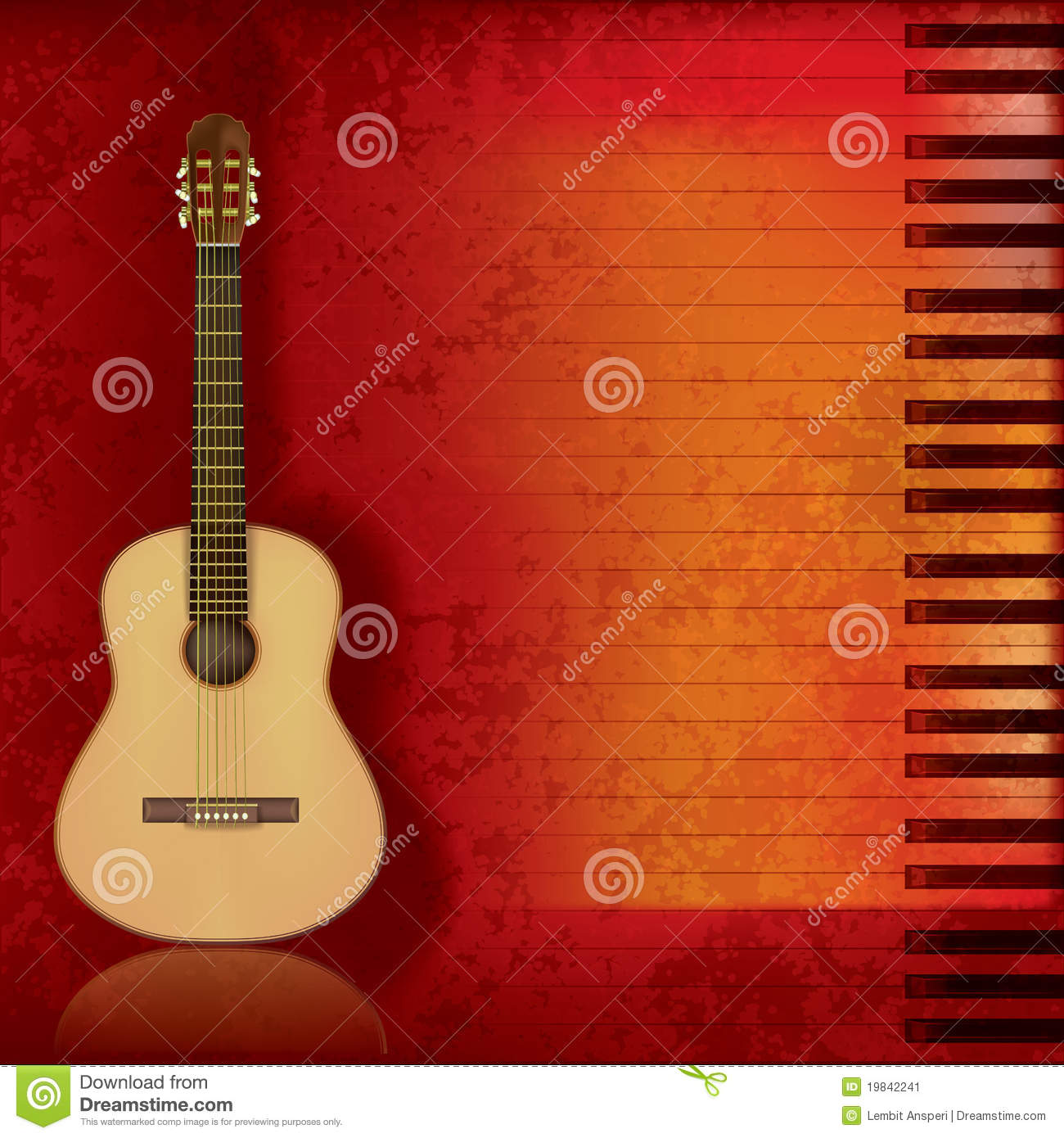 music time guitar abstract - photo #30