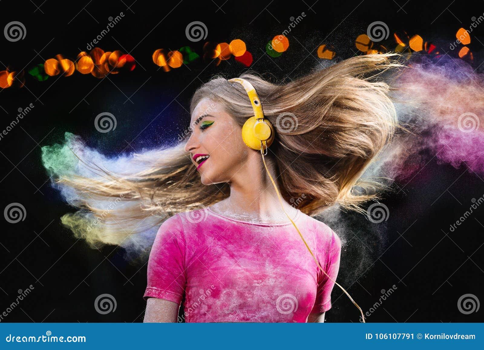 Music in headphones