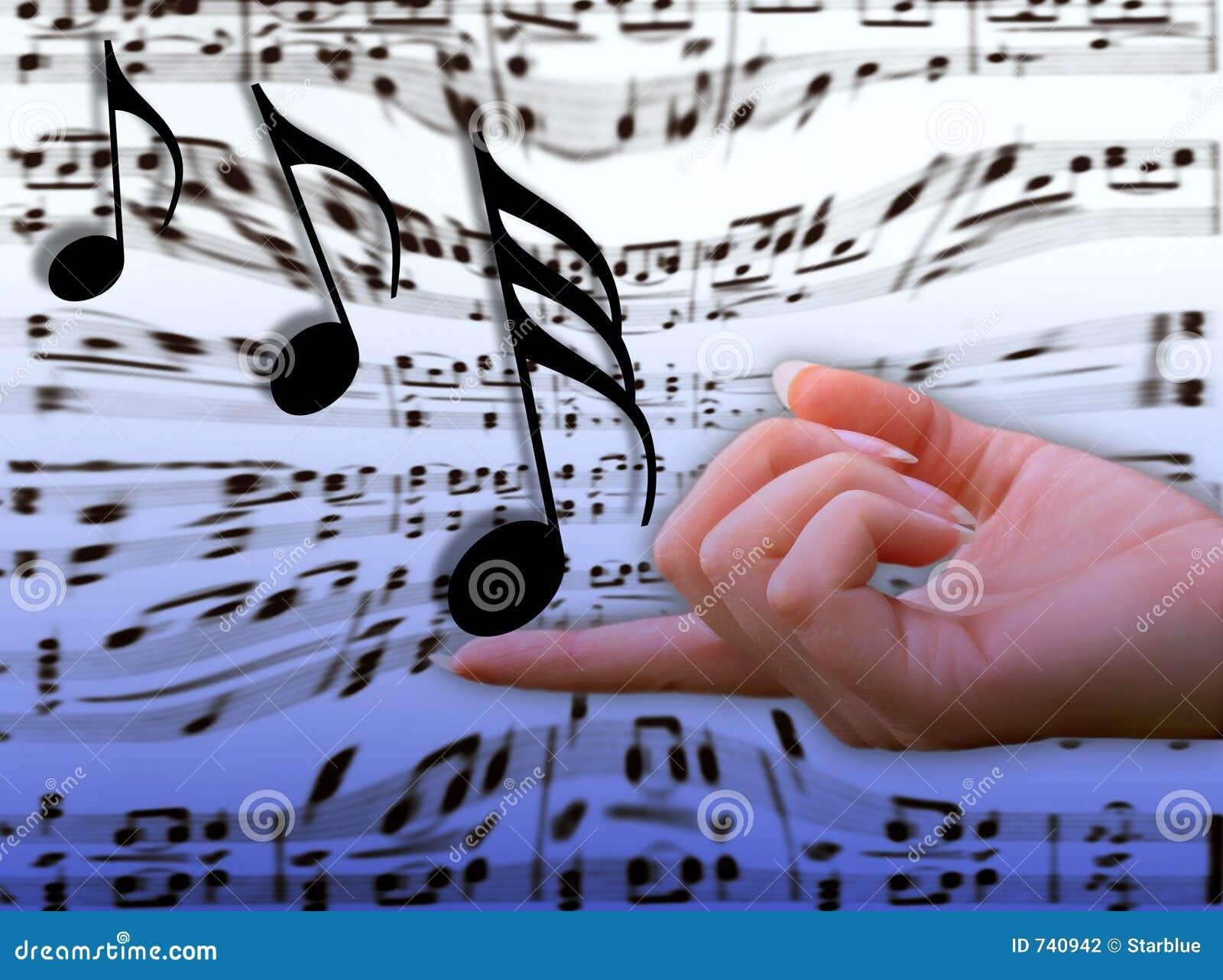 Music on her finger