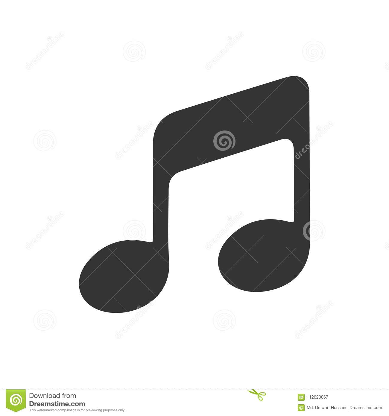 Music Icon Stock Vector Illustration Of Symbol Music 112020067
