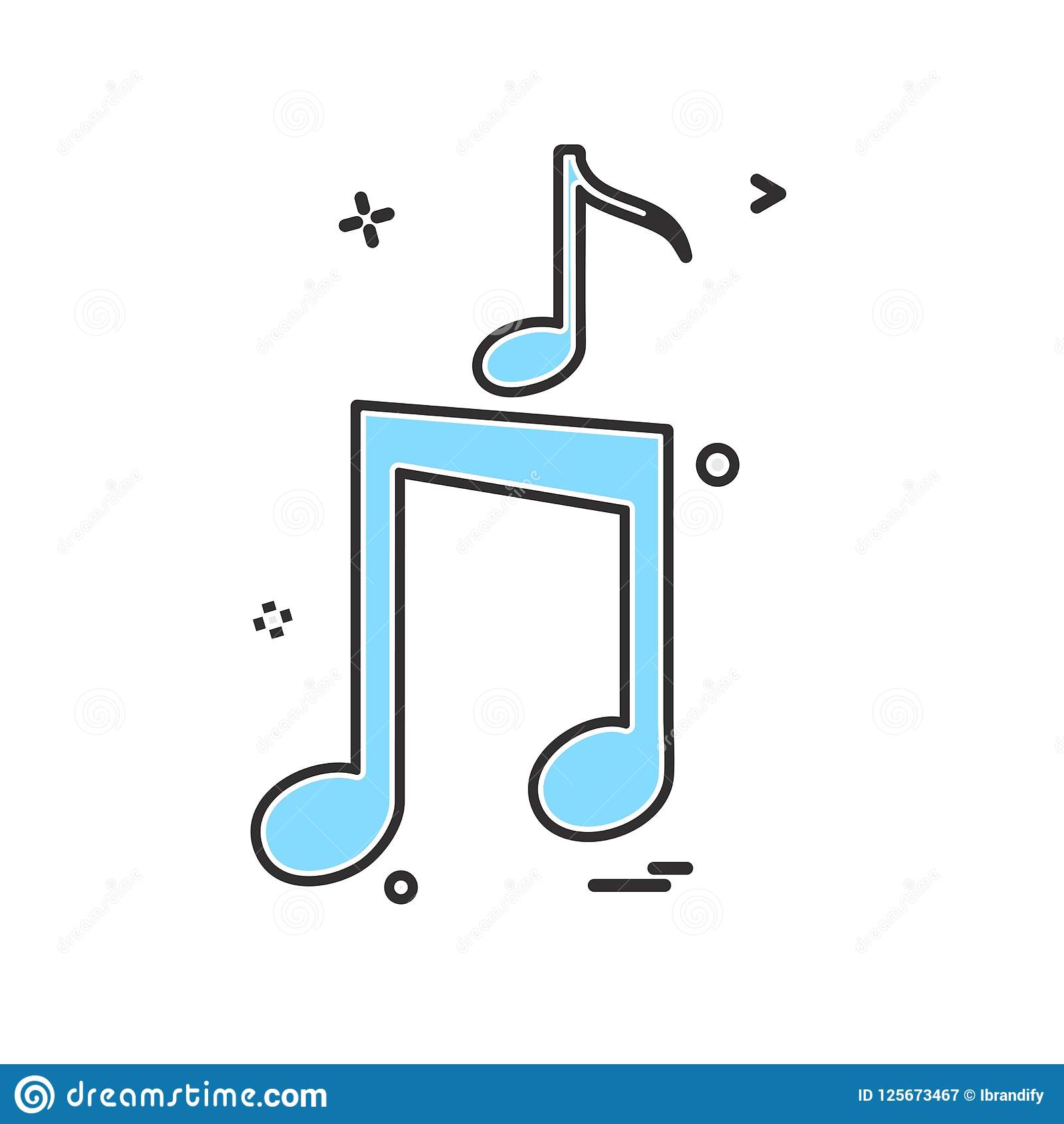 Music icon design vector. This Vector EPS 10 illustration is best for print media, web design, application design user interface and infographics with well Vector Illustration